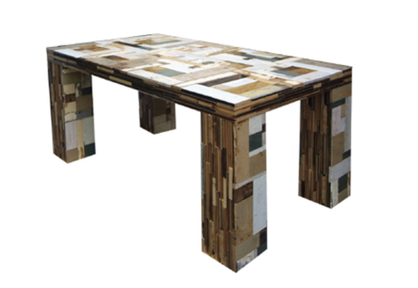 scrapwood table by piet hein eek stylepark. Black Bedroom Furniture Sets. Home Design Ideas