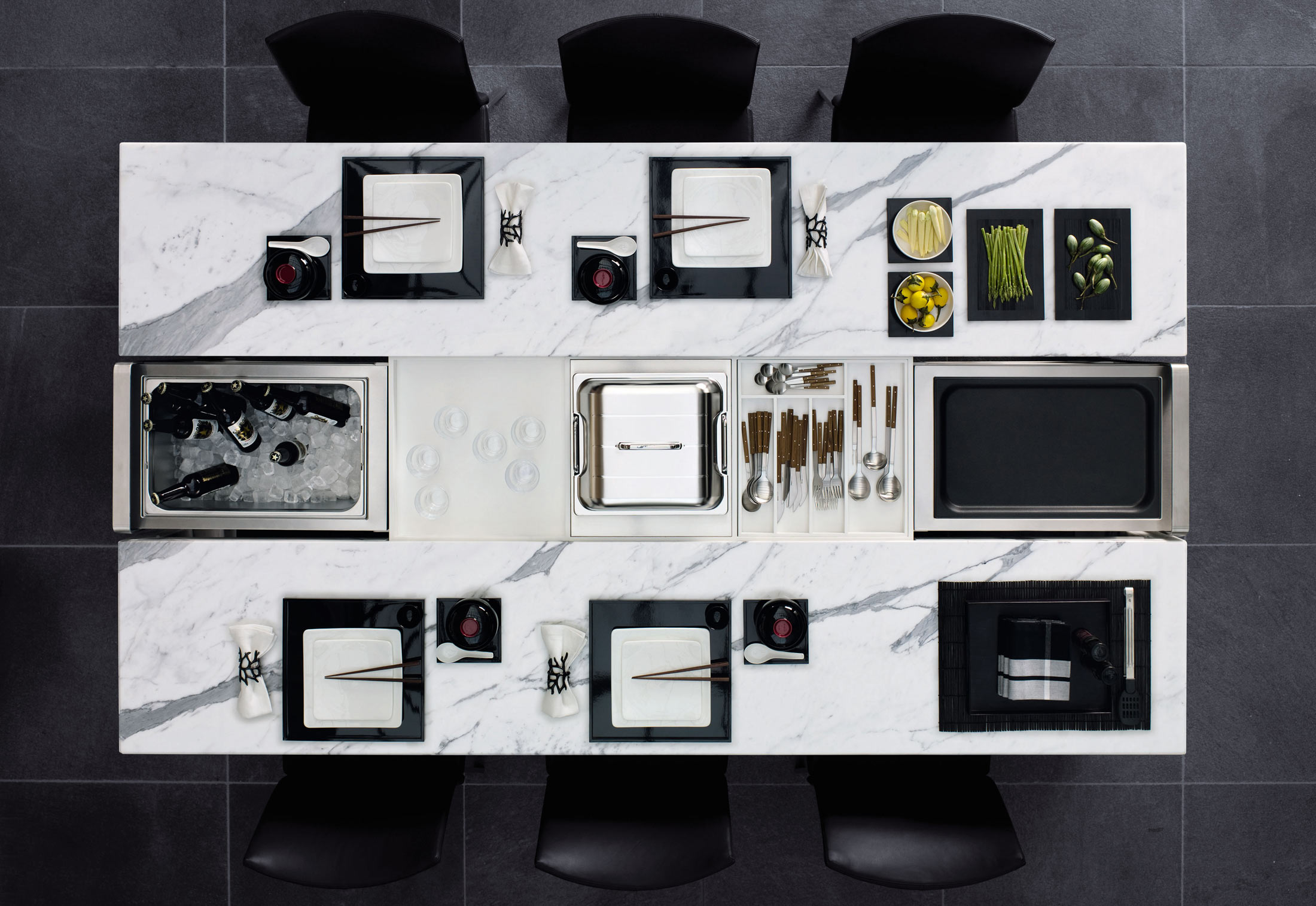 DINING DESK Marble By Poggenpohl STYLEPARK