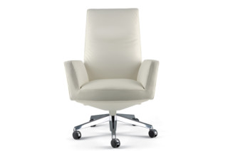 Chancellor swivel chair high  by  Poltrona Frau