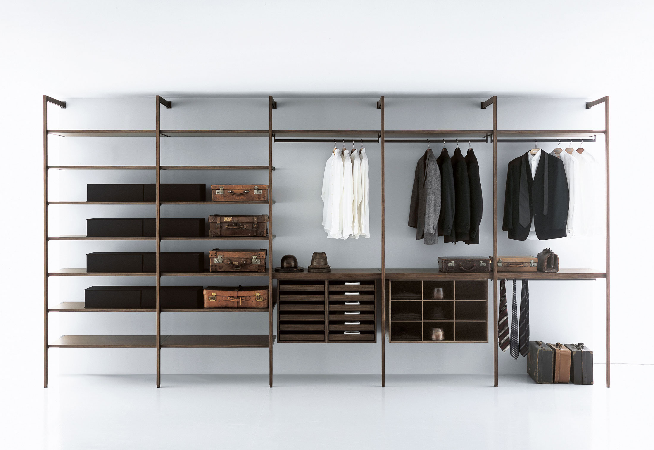 walking cabinets closets chocolate products closet in wood milan mens on pear lifetime organizers guarantee direct all walk