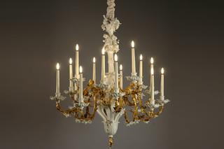 Baroque chandelier  by  Porzellan-Manufaktur Nymphenburg