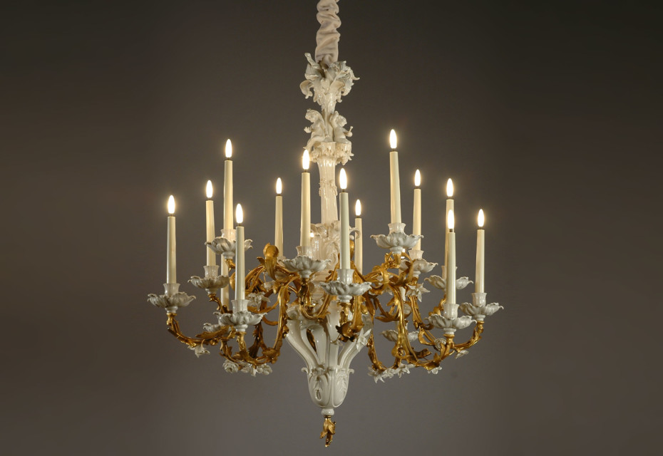 Baroque chandelier by porzellan manufaktur nymphenburg stylepark baroque chandelier aloadofball Image collections