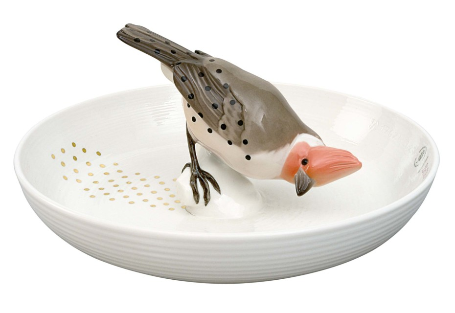Bowl with bird