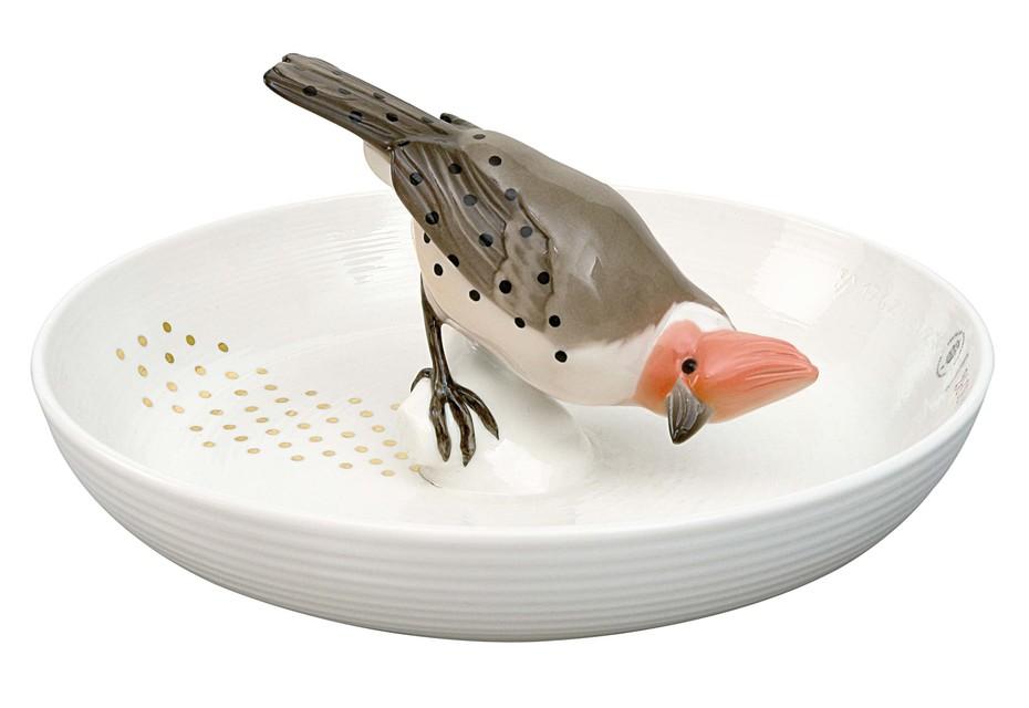 Schale mit Vogel