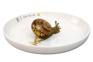 Bowl with snail  by  Porzellan-Manufaktur Nymphenburg