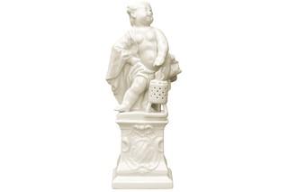 Cherub as Winter on pedestal No.669a  by  Porzellan-Manufaktur Nymphenburg