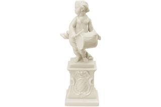 Cherub with drum on pedestal No.420a  by  Porzellan-Manufaktur Nymphenburg