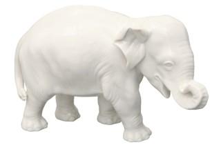 Elefant Nr.877b weiß  von  Porzellan-Manufaktur Nymphenburg