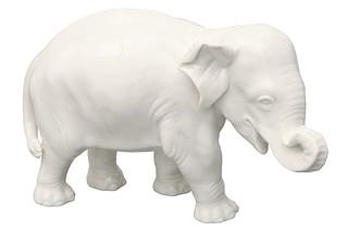Elefant No.877b white  by  Porzellan-Manufaktur Nymphenburg