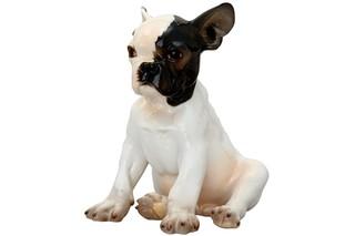 French bulldog sitting No.649/I  by  Porzellan-Manufaktur Nymphenburg