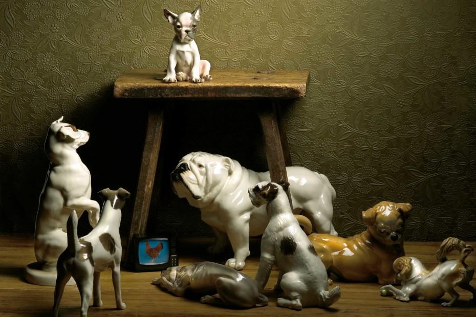 French bulldog with cushion No.554a