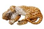 Leopard wallowing No.143  by  Porzellan-Manufaktur Nymphenburg
