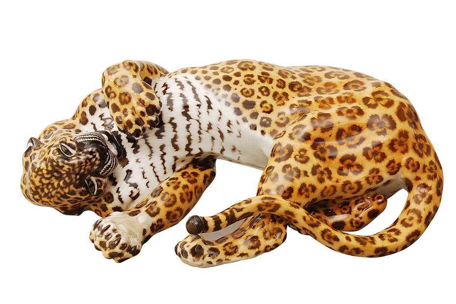 Leopard wallowing No.143