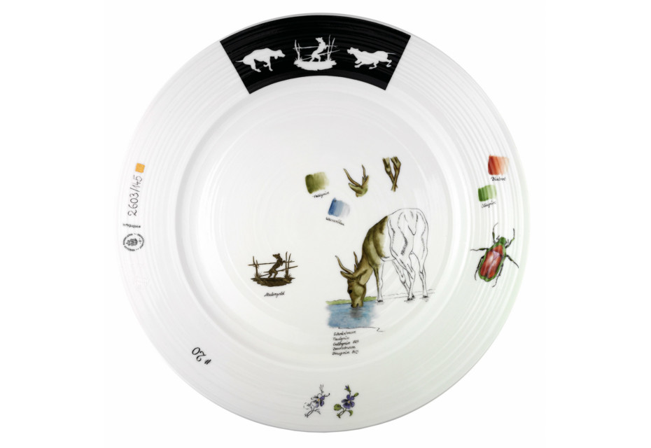 Plate décor game animals