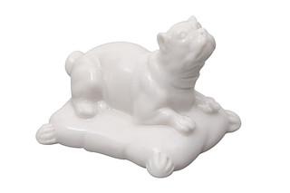 Pug with cushion No.764  by  Porzellan-Manufaktur Nymphenburg
