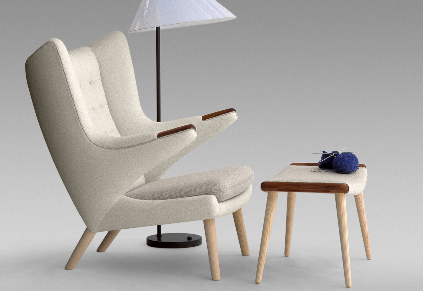 pp 19 the teddy bear chair by pp m bler stylepark. Black Bedroom Furniture Sets. Home Design Ideas