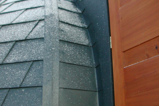 Shingle and Prefalz, anthracite  by  PREFA