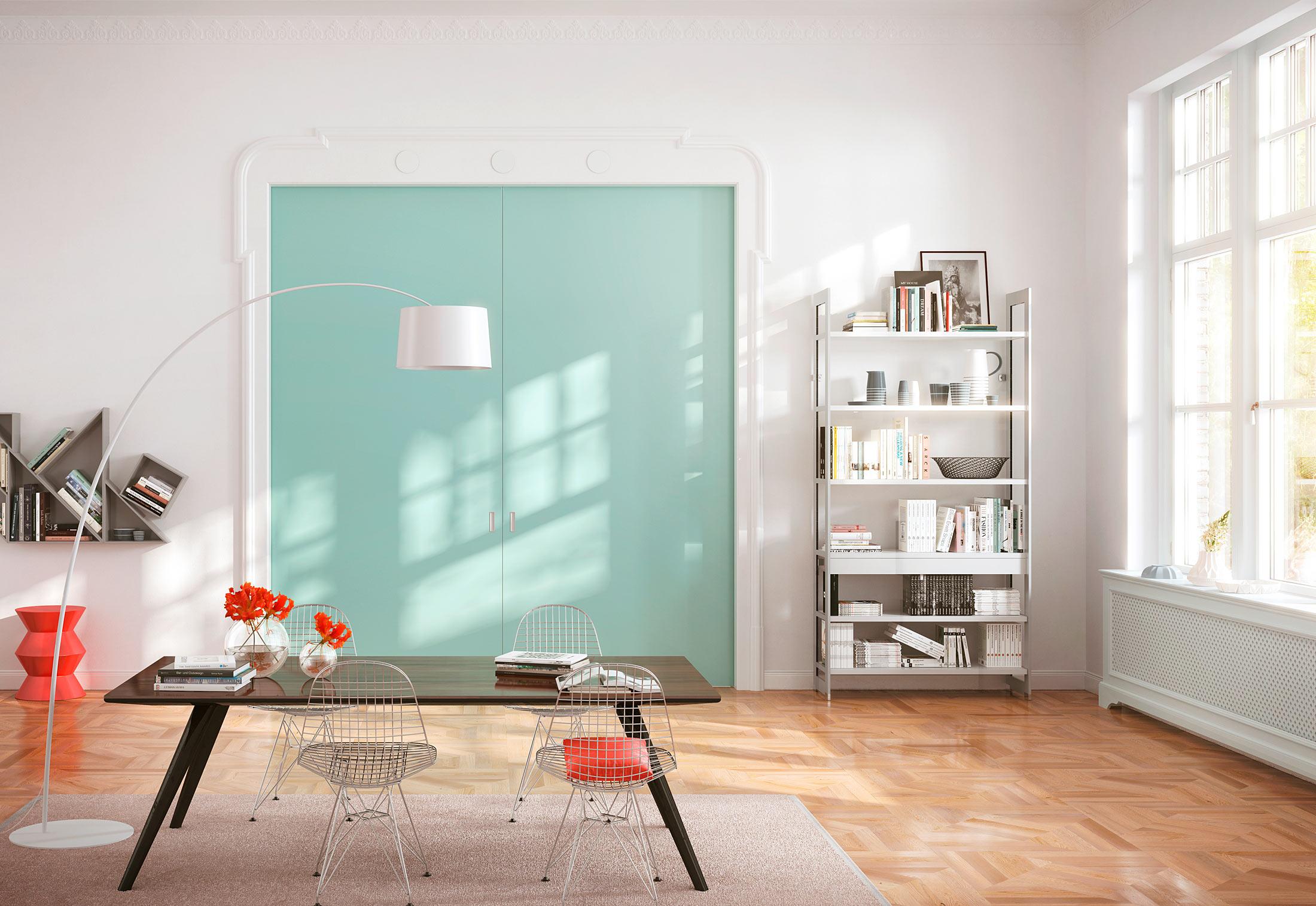 Pocket Door Sliding Door System Wooden Door Interior System Cornice