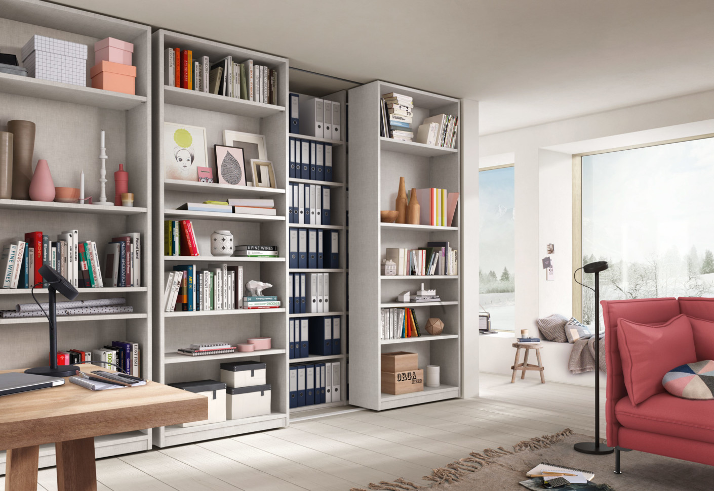 Office contract furniture storage shelving shelf systems - Rima Interior System By Raumplus Stylepark