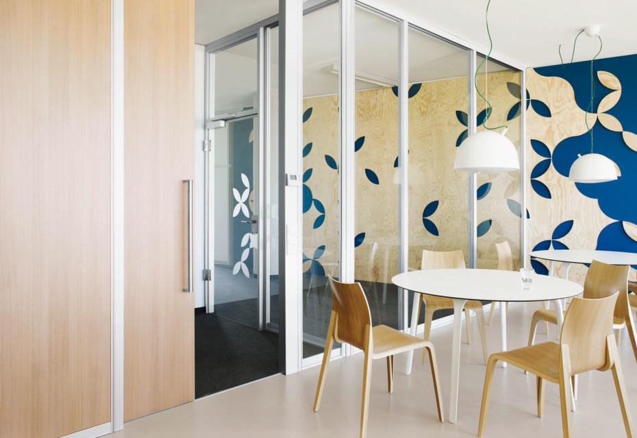 Wall partitioning system S1500 sliding door system wood door