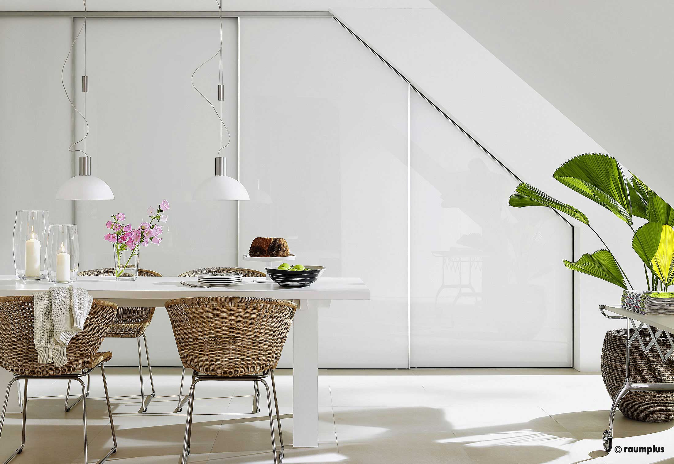 Sliding Door Sloped Ceiling S800 Interior System Legno By