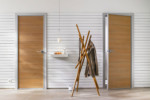 Swing pivot door front-wall installation  by  raumplus