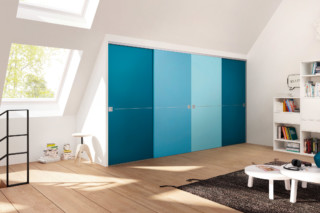 Sliding door system wood door  by  raumplus