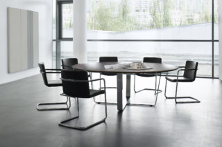 Tune conference table round  by  Renz