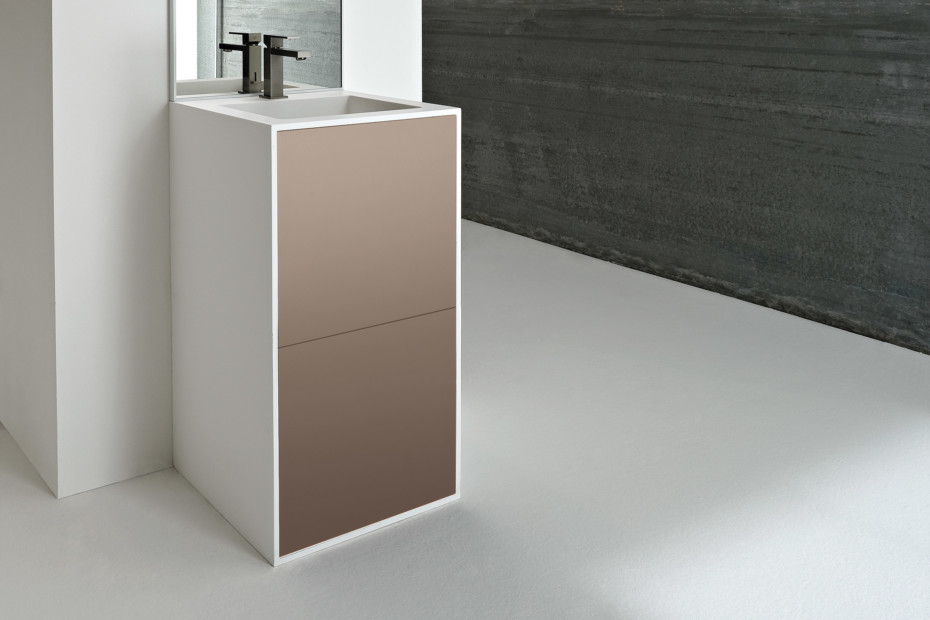 Giano washbasin with vanity unit