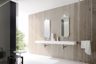 Unico washbasin integrated  by  Rexa Design