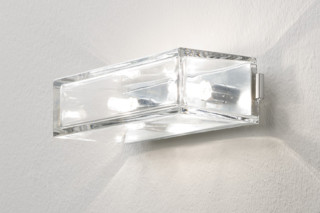 Wall light transparent glass wide  by  Rexa Design