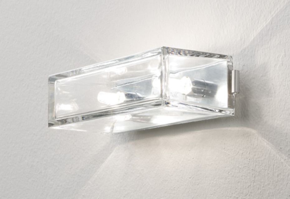 Wall light transparent glass wide