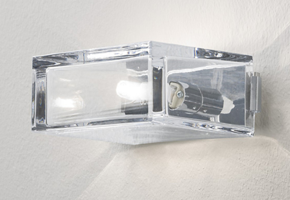 Wall light transparent glass