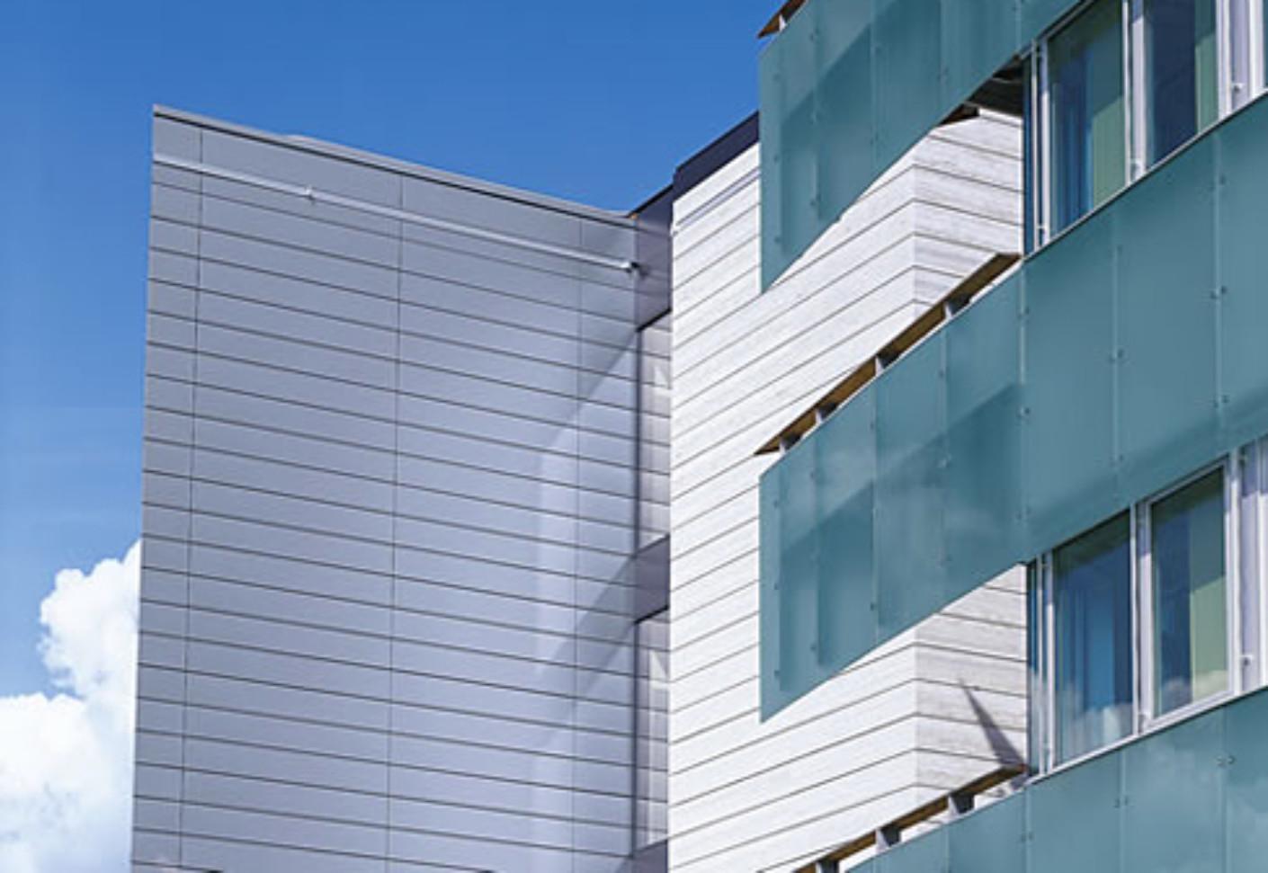 Shiplap Panel pre-weathered-pro blue grey by Rheinzink