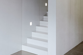 concrete skin interior, Straight Stairs, ivory  by  Rieder