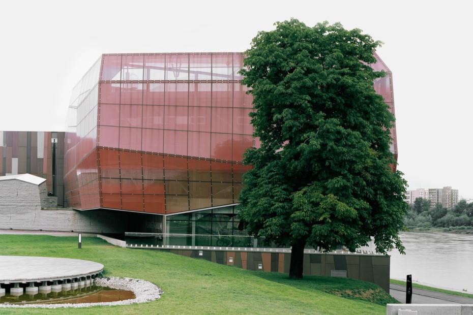 concrete skin, Kopernikus science centre, various red
