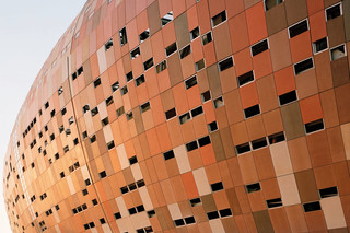 concrete skin, Soccer City Stadium, african colours  by  Rieder
