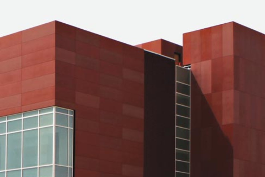 concrete skin, UNM Cancer Center, terracotta gemischt
