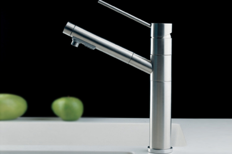 Diametrotrentacinque inox kitchen basin mixer