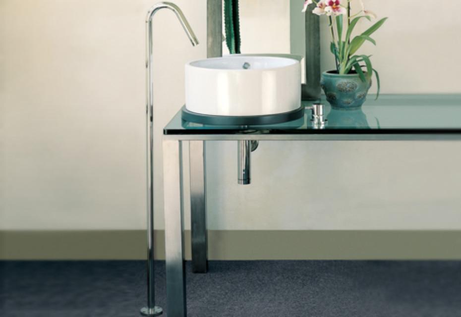Diametrotrentacinque washing basin inlet free standing
