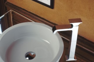 Serif basin mixer and inlet  by  Ritmonio