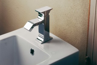 Serif bidet mixer and inlet  by  Ritmonio
