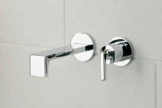 Waterblade_j basin inlet and mixer wall mounted  by  Ritmonio