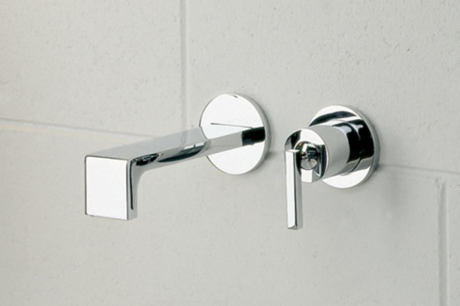 Waterblade_j basin inlet and mixer wall mounted