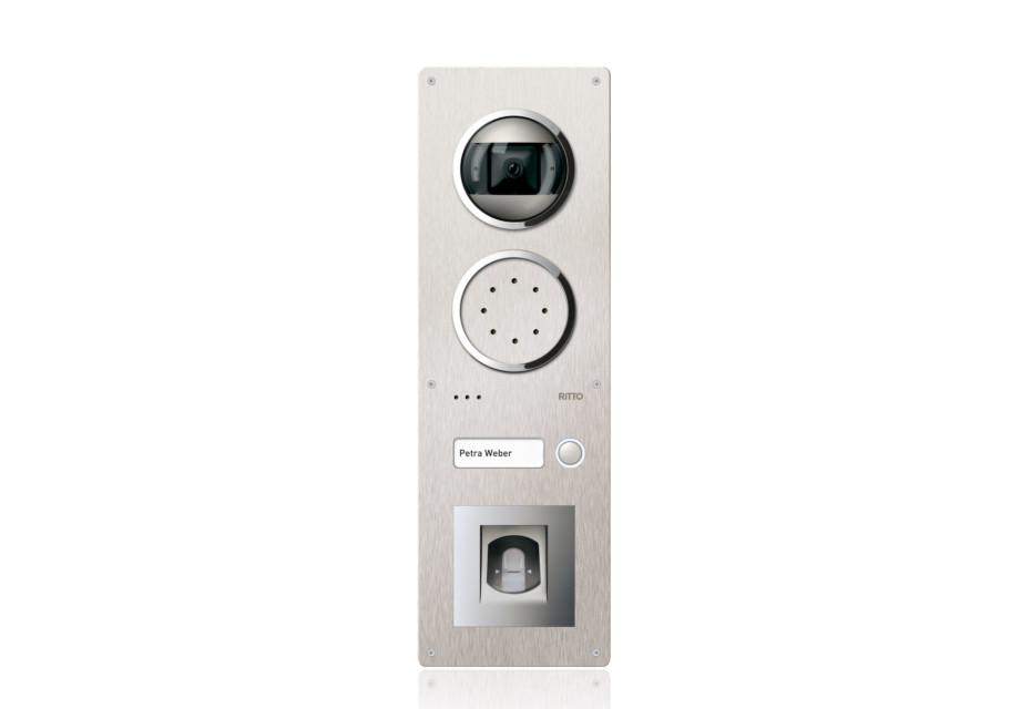 Acero video door station with fingerprint sensor