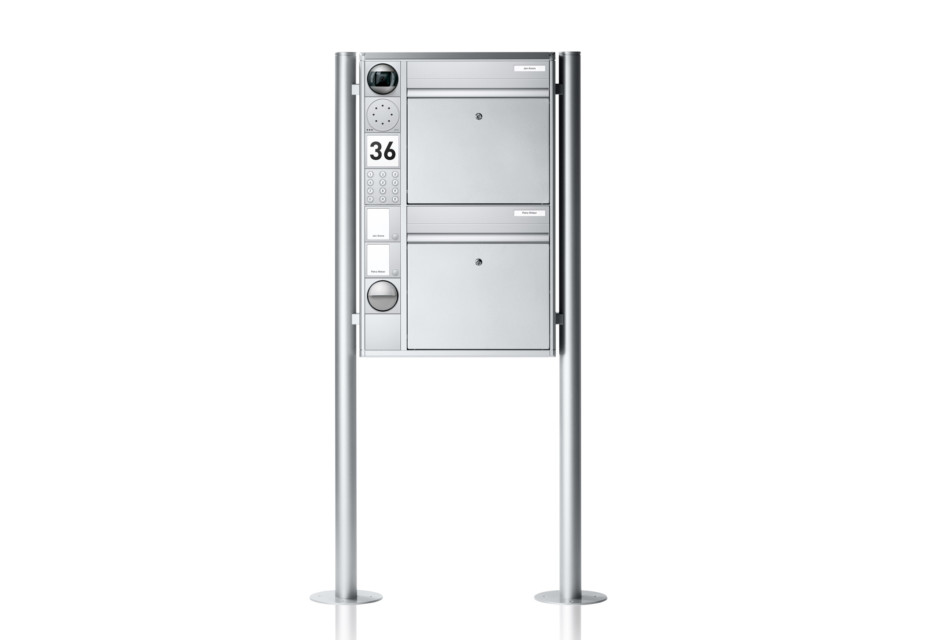 Portier free-standing letterbox system, 2 compartments