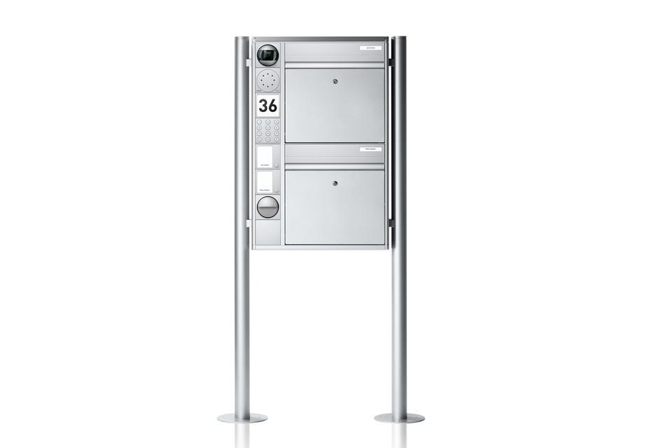 Portier Briefkastensystem freistehend, 2fach