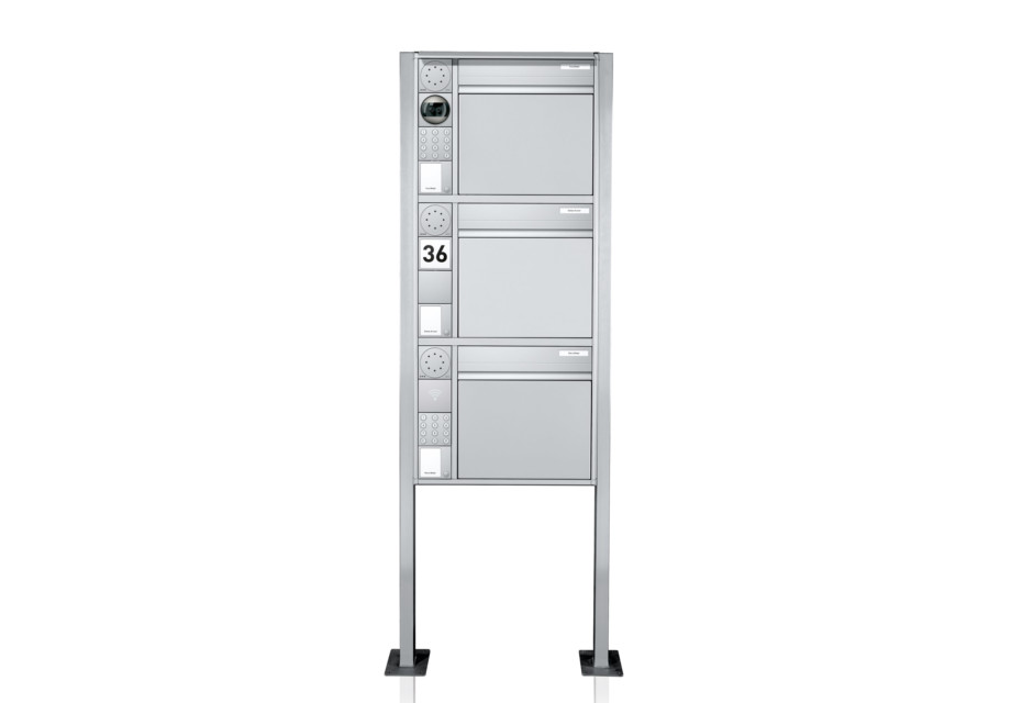 Portier free-standing letterbox system, 3 compartments