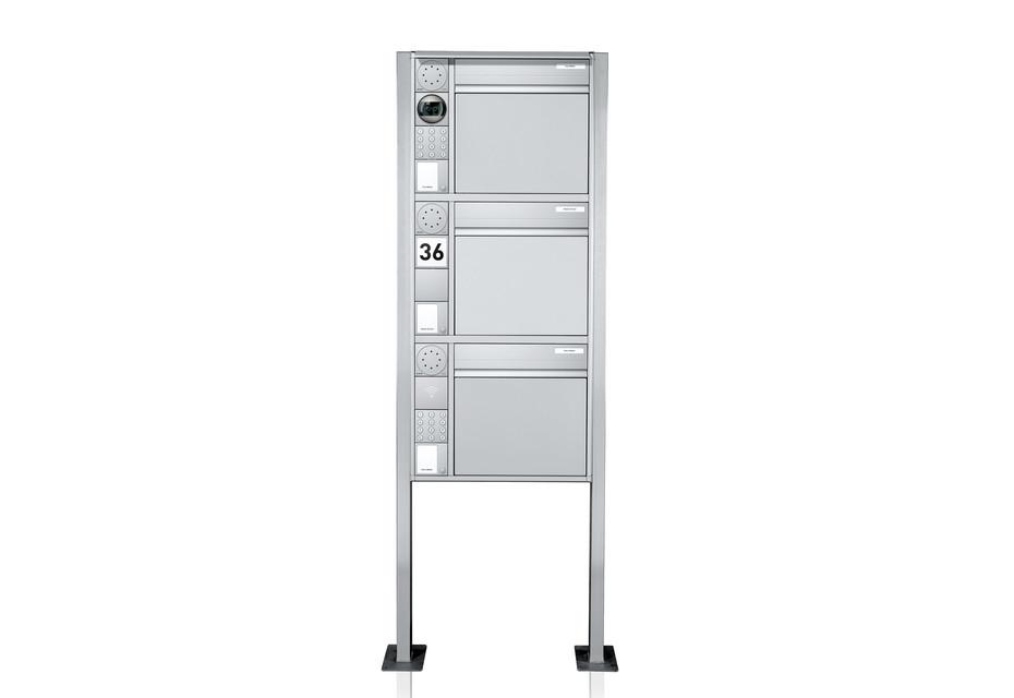 Portier Briefkastensystem freistehend, 3fach
