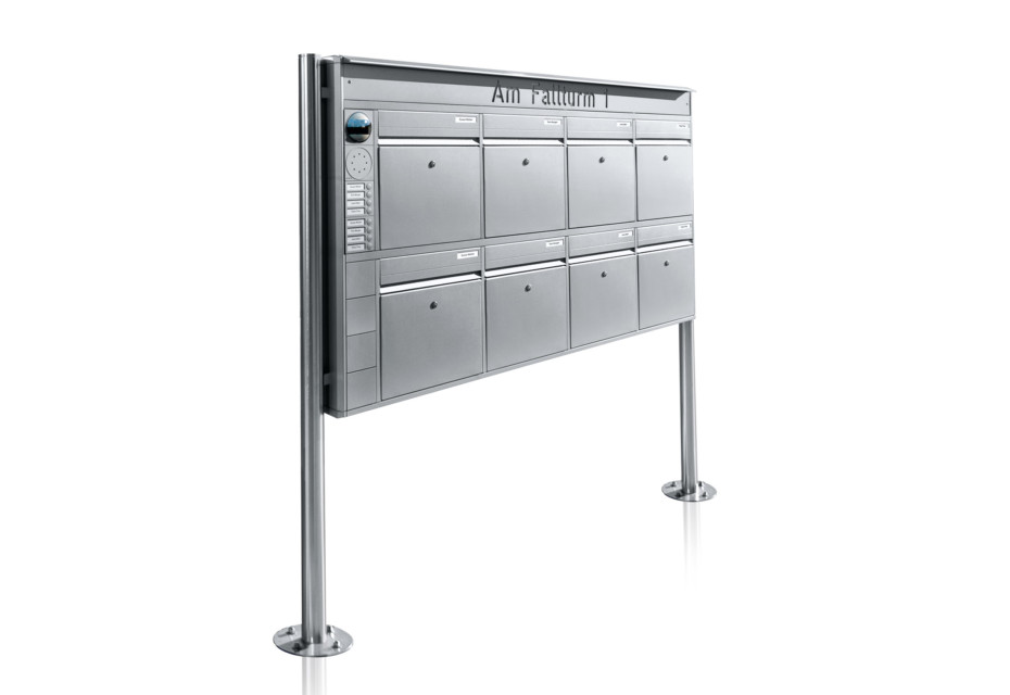 Portier free-standing letterbox system, 8 compartments